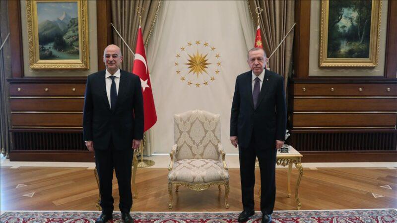 Cumhurbaşkanı Erdoğan, Yunanistan Dışişleri Bakanı'nı kabul etti