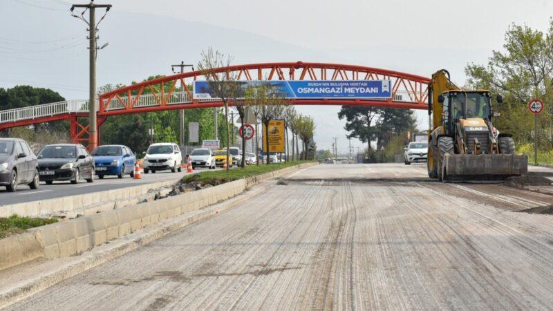 Bursa'da trafikte bir düğüm daha çözülüyor