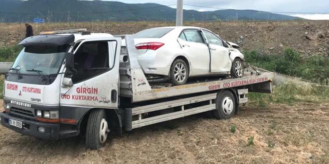 Bursa'da başhekim kaza yaptı