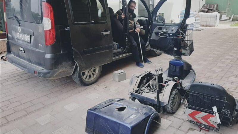 Yolda kalan engelli vatandaşın imdadına İnegöl Belediyesi yetişti