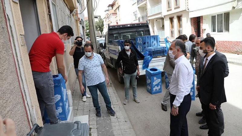 10 mahallede bireysel konteyner dağıtımı tamamlandı