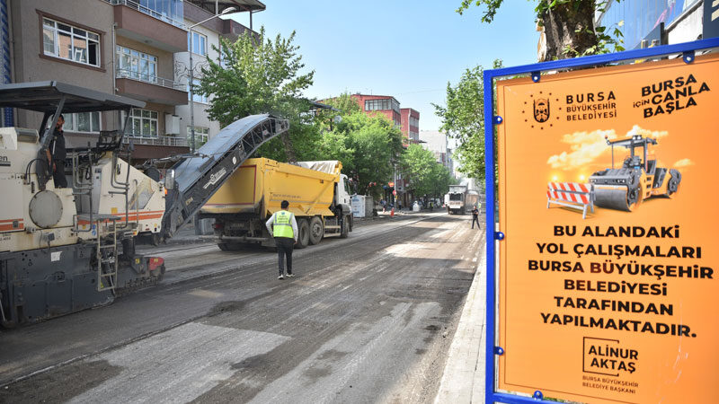 Büyükşehir'den asfalt seferberliği! O cadde sil baştan…