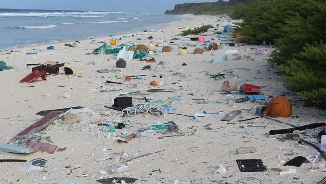 Hiç kimsenin yaşamadığı adada 18 ton çöp var