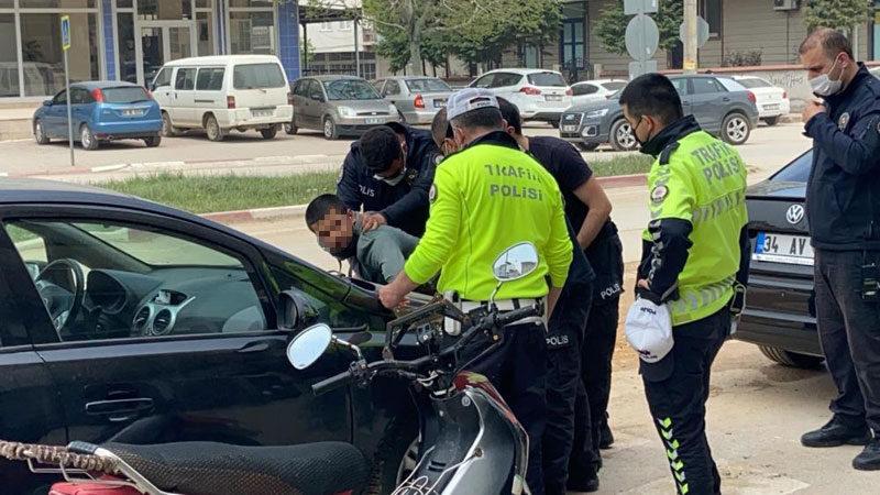 Bursa'da hareketi dakikalar! Polisin üzerine sürdü…