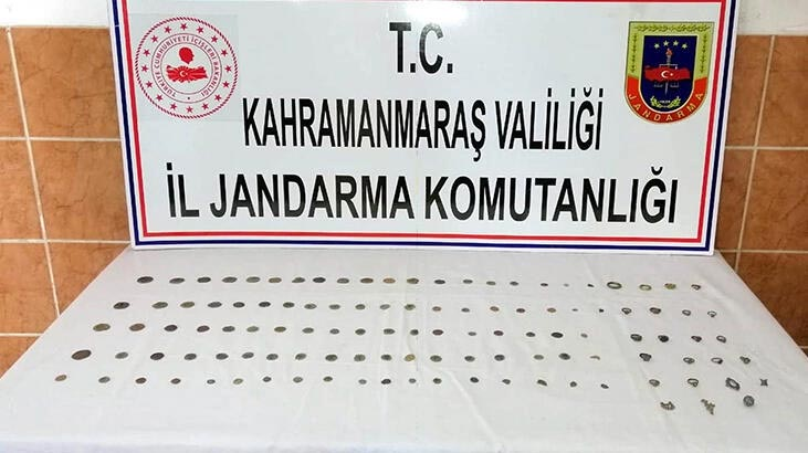Kahramanmaraş'ta 115 tarihi eser ele geçirildi