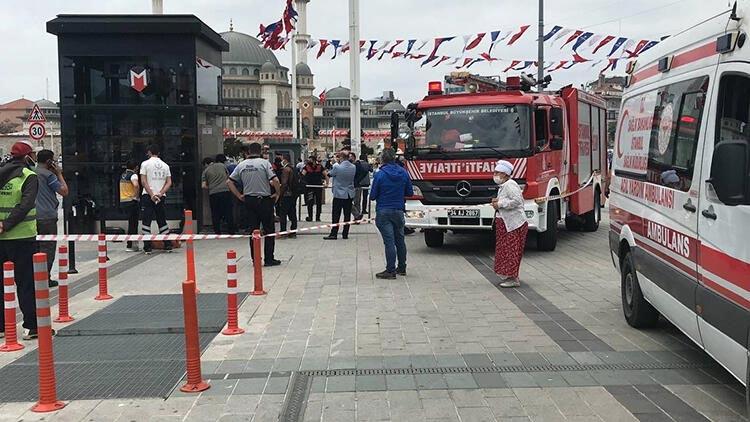 Taksim Meydanı'nda panik! 3 saatte kurtarıldılar