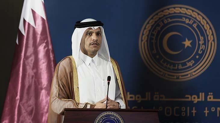 """Katar ve Mısır dışişleri bakanları Kahire'de """"ikili ilişkileri"""" görüştü"""