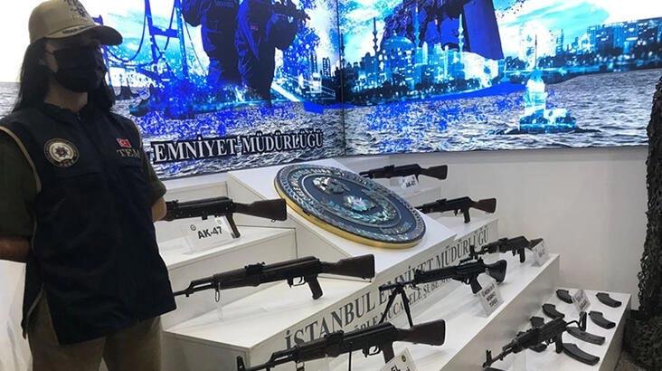 TKP/ML operasyonunda ele geçirilen silahlar emniyette sergilendi