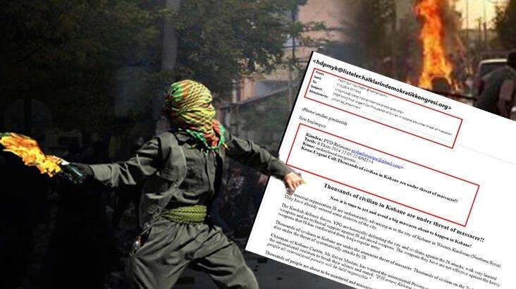 Terör örgütü PYD'nin, Kobani olayları talimatını HDP'ye e-postayla bildirdiği ortaya çıktı!