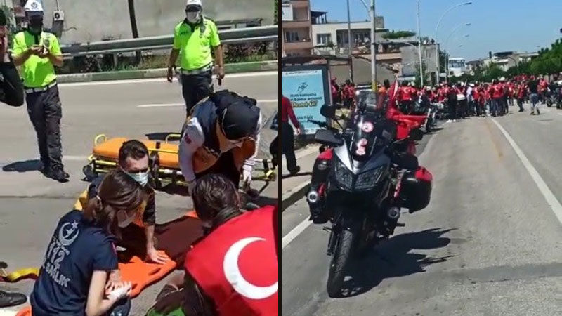 Bursa'da 19 Mayıs kortejinde kaza: 2 polis yaralandı