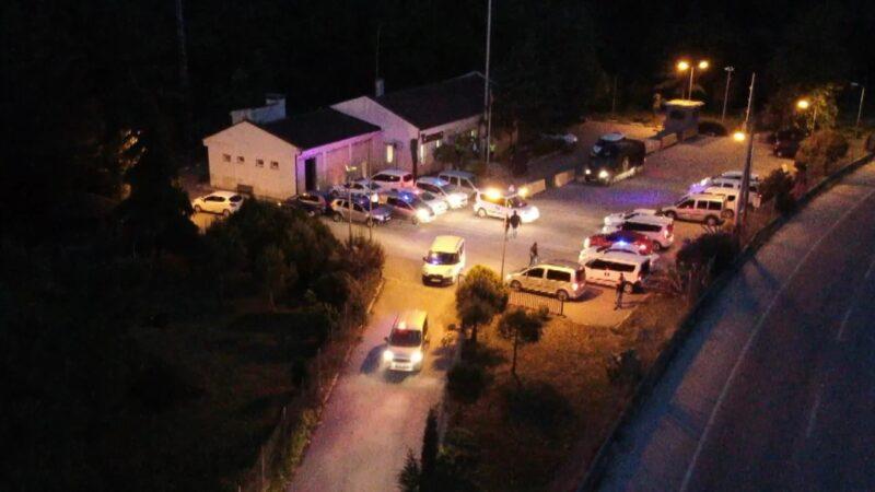 Bursa'da drone destekli operasyon: Çok sayıda gözaltı