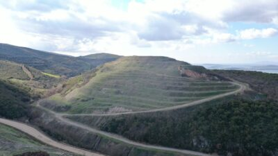 Bursa'da maden ocakları ağaçlandırılıyor