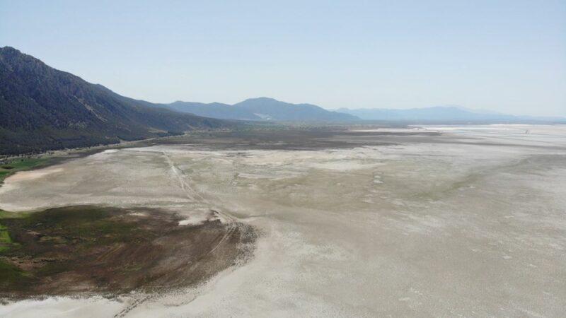 Türkiye'de tek, dünyada ikinci… Sular 500 metre çekildi
