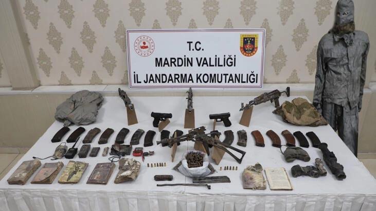 Mardin'deki terör operasyonunda 4 uzun namlulu silah ve 2 tabanca ele geçirildi