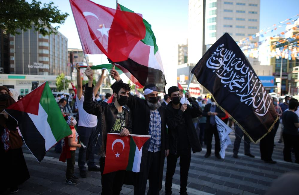 Bursa'da İsrail protestosu!