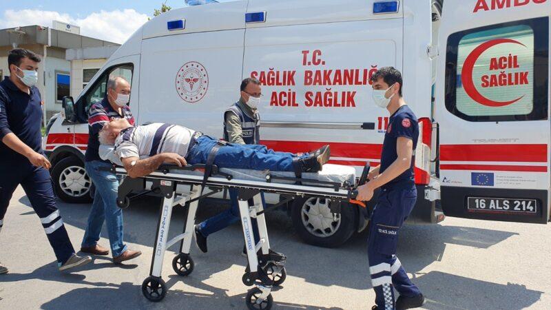Bursa'da kalp krizi geçirdi, polis noktasından yardım istedi
