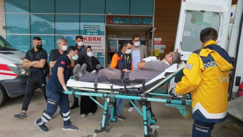 Bursa'da kamyonet park halindeki araca çarptı: 1 yaralı