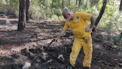 Kısıtlamada mangal keyfi ormanı yaktı
