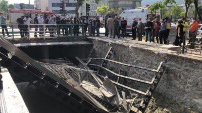 Bursa'da köprü çöktü! Yaralılar var…