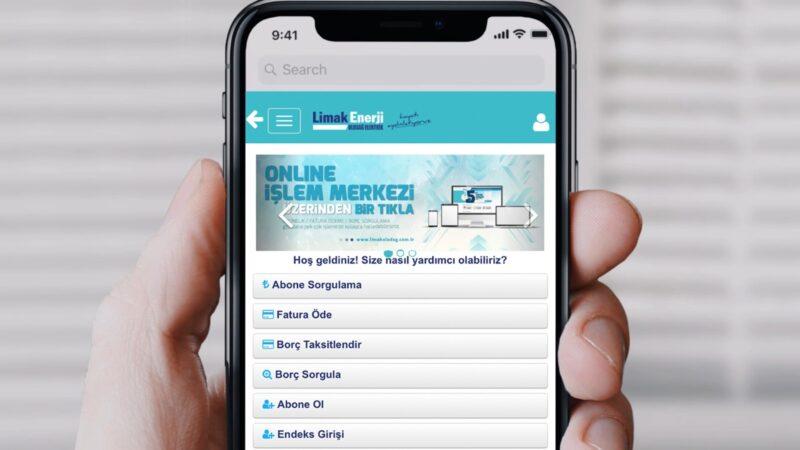 Limak Enerji müşterileri, tüm işlemlerini online olarak yapabiliyor