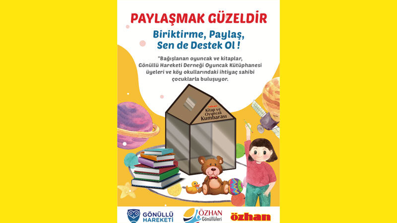 Özhan'dan kitap ve oyuncak bağışı kampanyası
