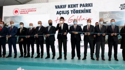 Bursa'da Vakıfköy Bera Kent Parkı'nın açılışı yapıldı
