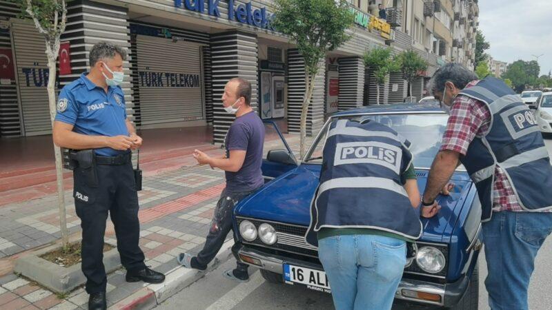 Bursa'da şehir turu attı, cezayı yedi