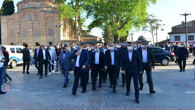 Başkan Oktay Yılmaz bayramı Emir Sultan Camii'nde karşıladı