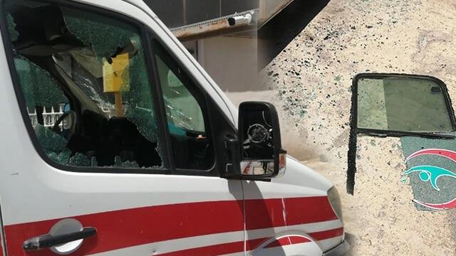 Baltayla ambulansa zarar veren kişi tutuklandı