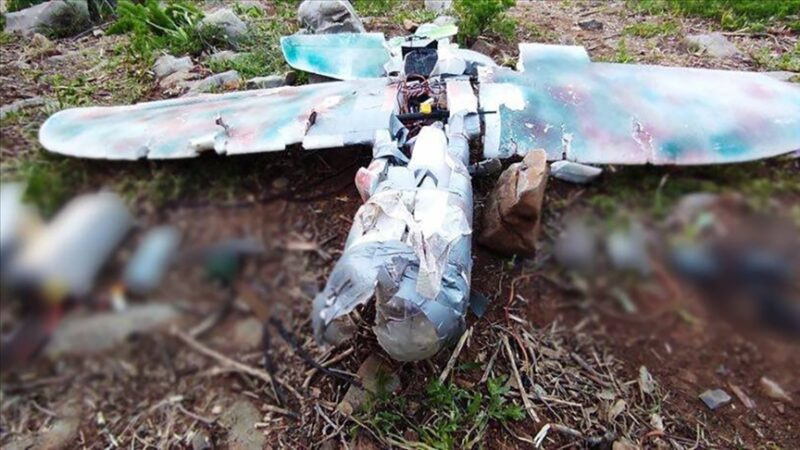 PKK'nın maket uçağı düşürüldü