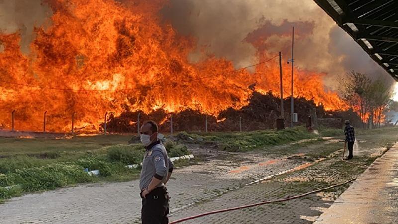 Enerji santralinde yangın