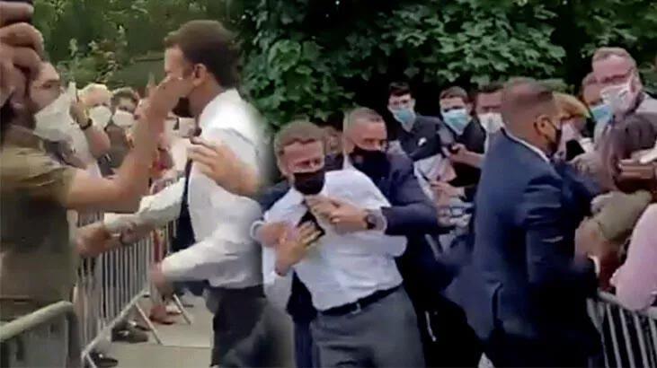 Macron'a tokat atan saldırganın cezası belli oldu!