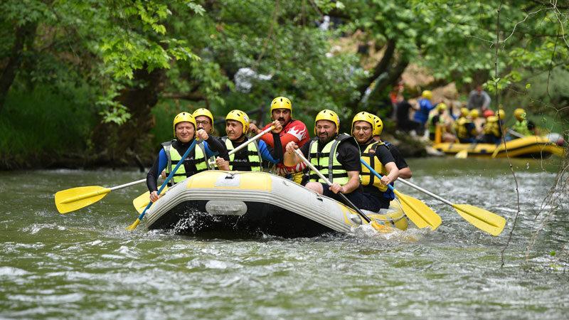 Marmara'nın ilk rafting parkuru Orhaneli'nde açıldı