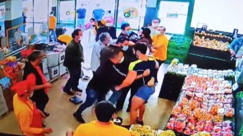 Markette dehşet anları! 3 sivil jandarmayı bıçakladı