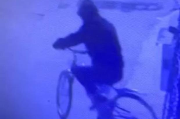 Bursa'da bisikleti saniyeler içinde böyle çaldı