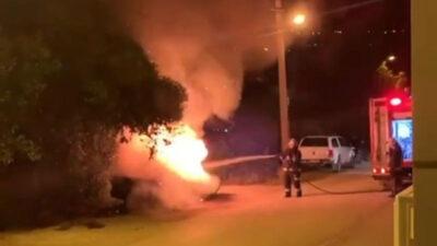 Bursa'da korku dolu anlar! Geceyi alevler aydınlattı