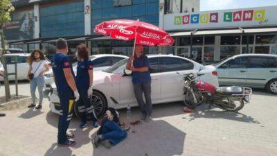 Bursa'da yaralılara şemsiyeli yardım