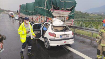 Bursa'da otobanda korkunç kaza! Feci şekilde can verdi