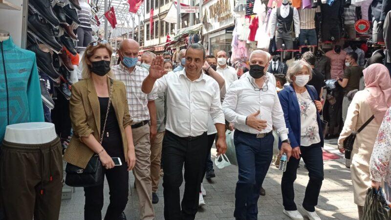 Bursa'da sahaya indiler! Seçim startı verildi…
