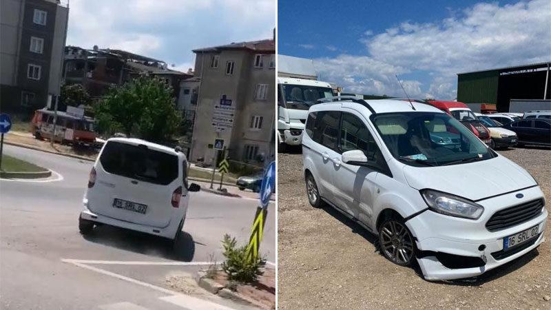 Yer: Bursa… Çalıntı araçla drift