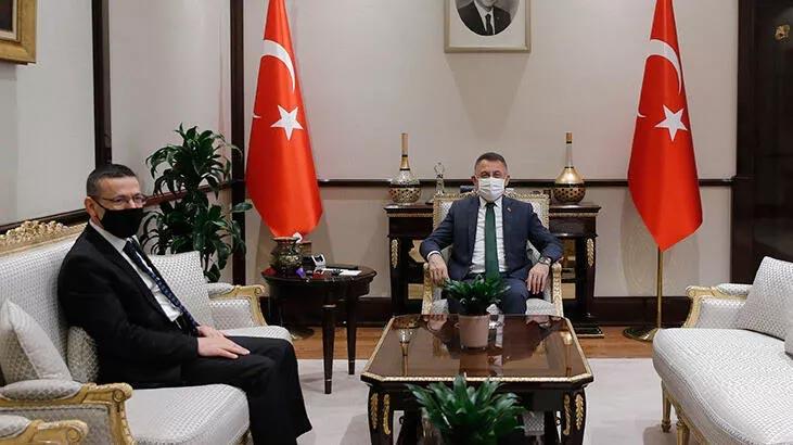 Cumhurbaşkanı Yardımcısı Oktay, Sayıştay Başkanı Baş'ı kabul etti
