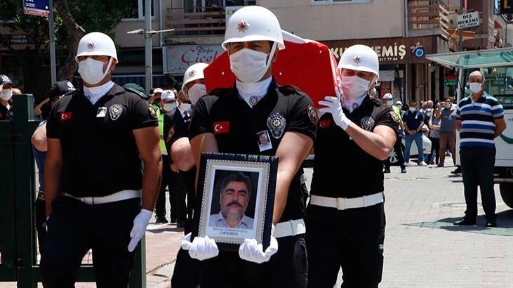 Trafik kazasında şehit olan polis memuru için tören