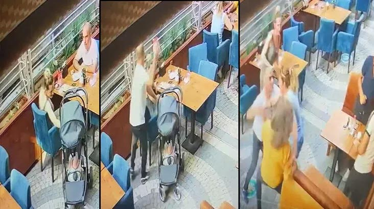 Kafede dehşet! Eski eşi ile engel olmak isteyen iki kadını darbetti