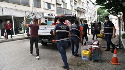 Osmangazi'de kaldırımlar işgalden kurtarıldı