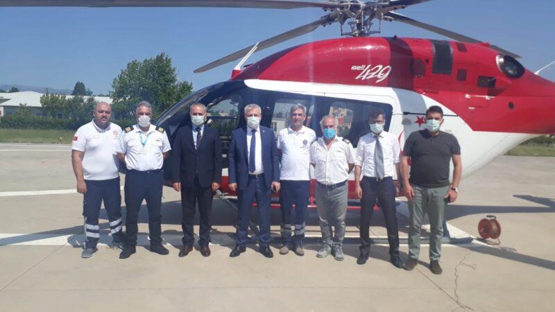 Ambulans helikopter Bursa'ya 'hızır' oldu