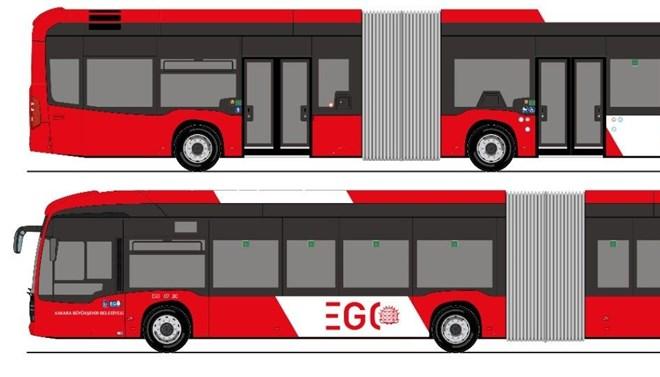 Başkentlilerin yeni otobüste renk tercihi kırmızı-beyaz oldu