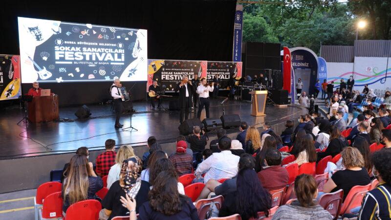 Bursa Sokak Sanatçıları Festivali, final konseriyle sona erdi