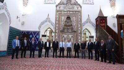 Büyükşehir belediye başkanları Muradiye Külliyesi'ne hayran kaldı