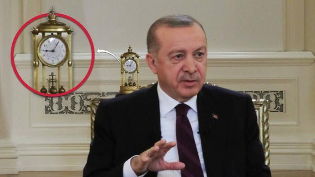 Cumhurbaşkanı Erdoğan'ın TRT yayınında dikkat çeken detay