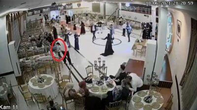 Bursa'da düğün salonundaki küçük hırsız kameralara yakalandı